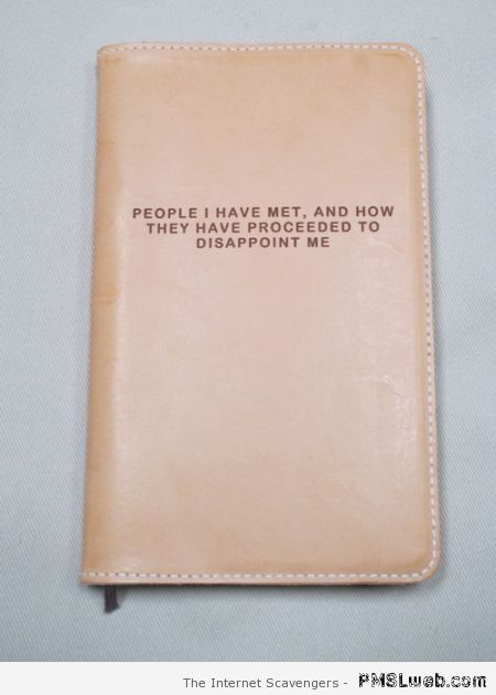 People who have disappointed me book – Hump day funnies at PMSlweb.com
