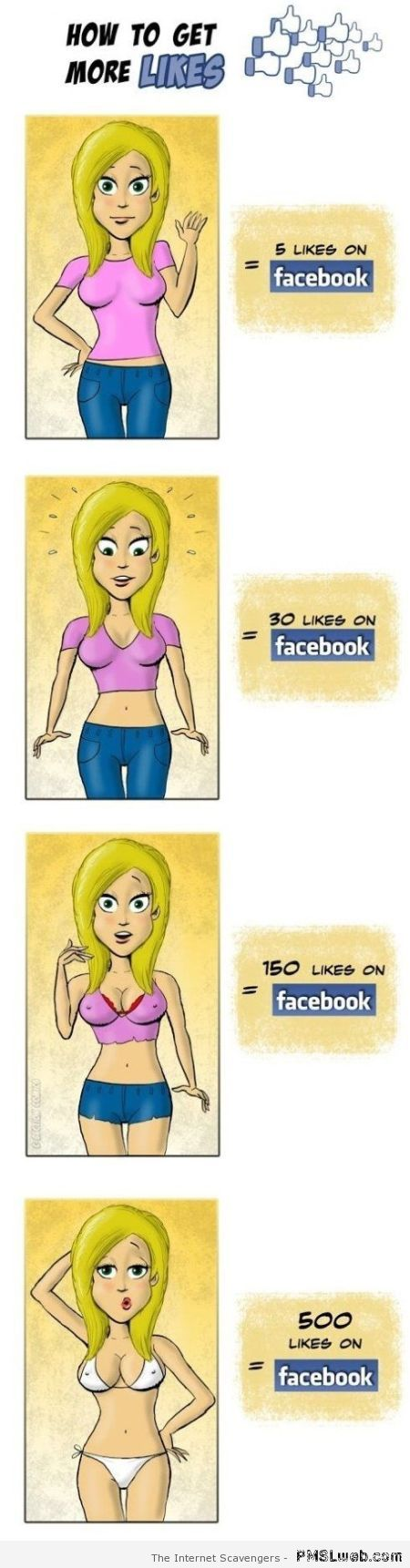Funny how to get more likes at PMSLweb.com