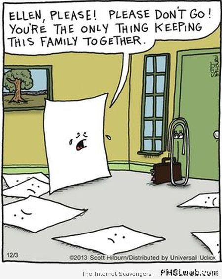 Funny paper clip wife cartoon at PMSLweb.com