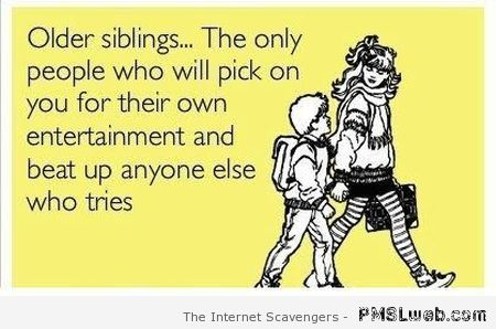 Older siblings funny ecard at PMSLweb.com