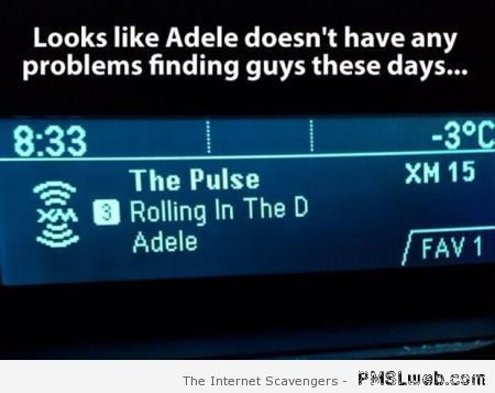 Funny Adele song title at PMSLweb.com