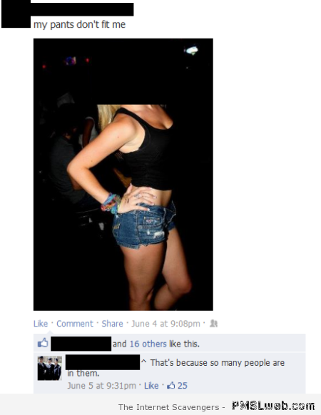 Funny attention whore Facebook comment at PMSLweb.com