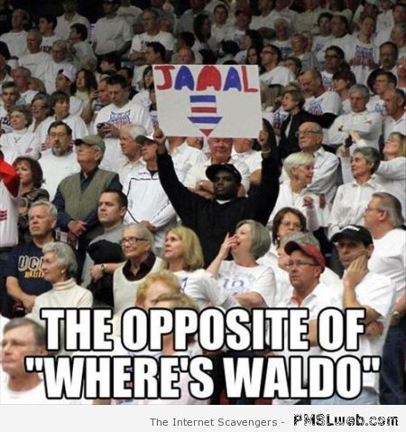 The opposite of Waldo meme at PMSLweb.com