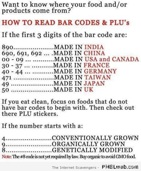 How to read bar codes at PMSLweb.com