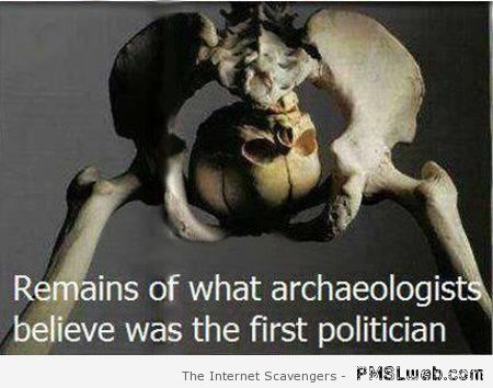 Remains of the first politician humor at PMSLweb.com