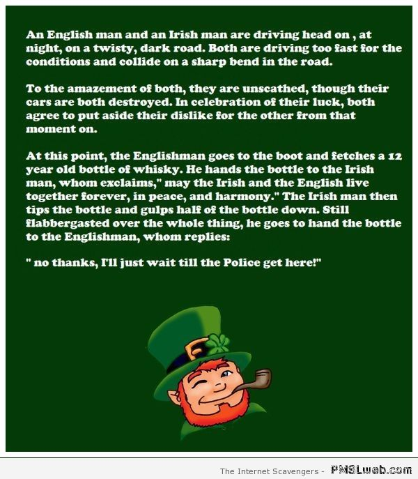 Englishman and Irishman joke – Funny St Patrick pictures at PMSLweb.com