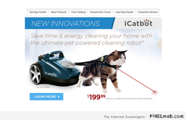 Cat powered cleaning robot – New week funnies at PMSLweb.com