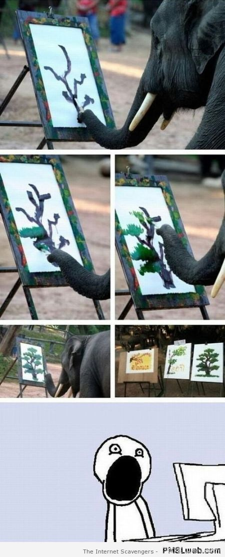 Amazing painting elephant at PMSLweb.com