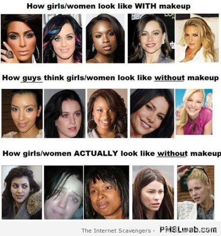 How women actually look without makeup funny at PMSLweb.com
