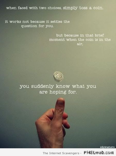 Coin flip logic at PMSLweb.com