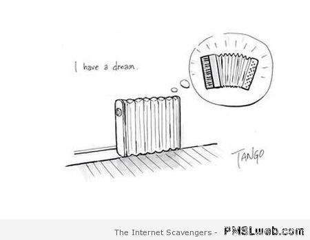 Radiator has a dream humor at PMSLweb.com