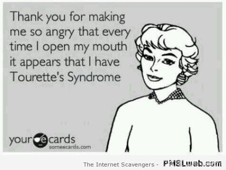Tourette's Syndrome ecard at PMSLweb.com