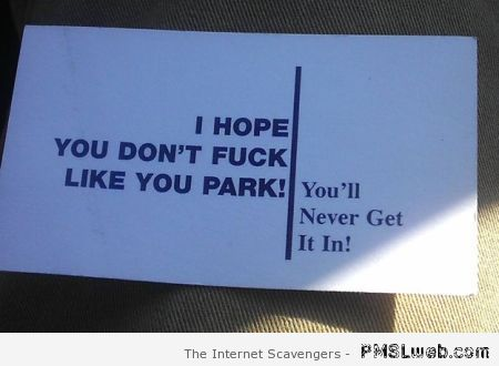 I hope you don't f*ck like you park at PMSLweb.com
