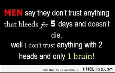 Two heads and one brain funny quote at PMSLweb.com