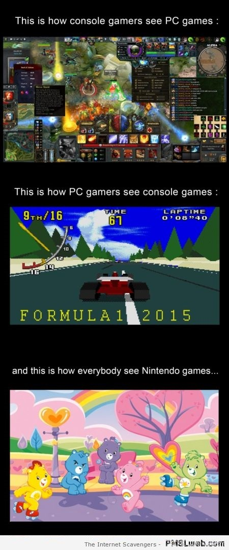Funny what console gamers see – Sunday laughter at PMSLweb.com