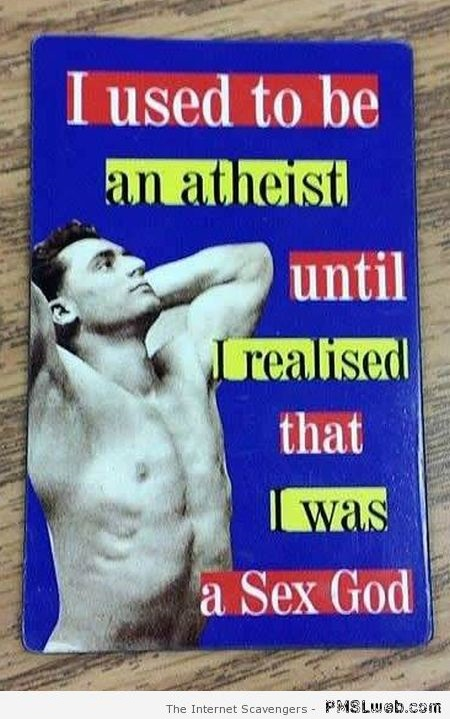I used to be an Atheist funny book title at PMSLweb.com