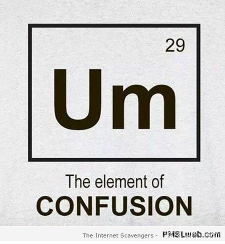 Um the element of confusion at PMSLweb.com