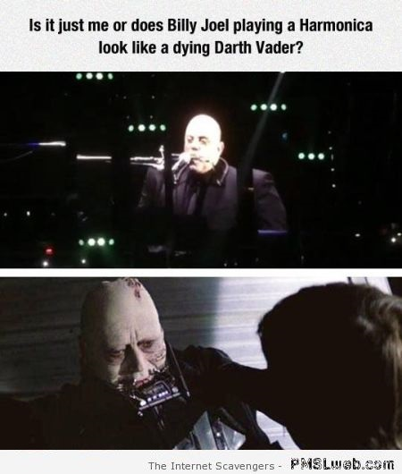 Funny Billy Joel looks like dying Darth Vader at PMSLweb.com