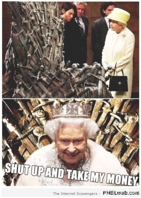 Funny Queen Elizabeth and game of thrones at PMSLweb.com