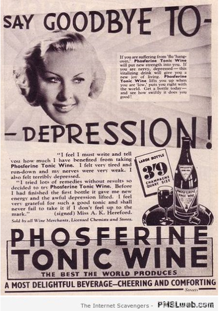 Vintage phosferine tonic wine advert at PMSLweb.com
