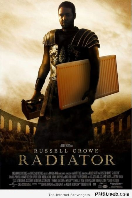 Funny Russell Crowe gladiator parody – Weekend nonsense at PMSLweb.com