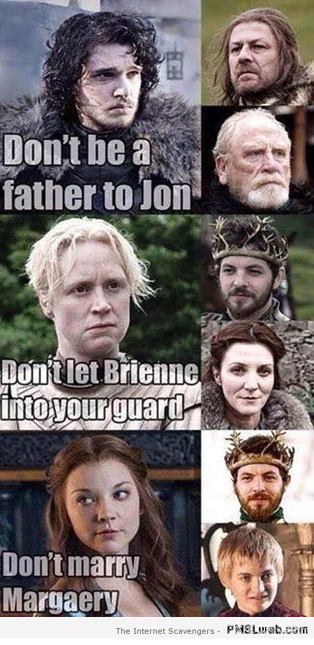 Funny Game of Thrones rules – Game of Thrones funnies at PMSLweb.com