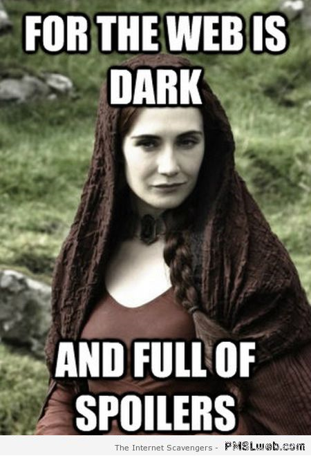 Funny game of thrones red woman meme –New week humor at PMSLweb.com