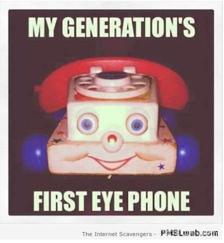 My first eye phone meme – Funny nonsense at PMSLweb.com