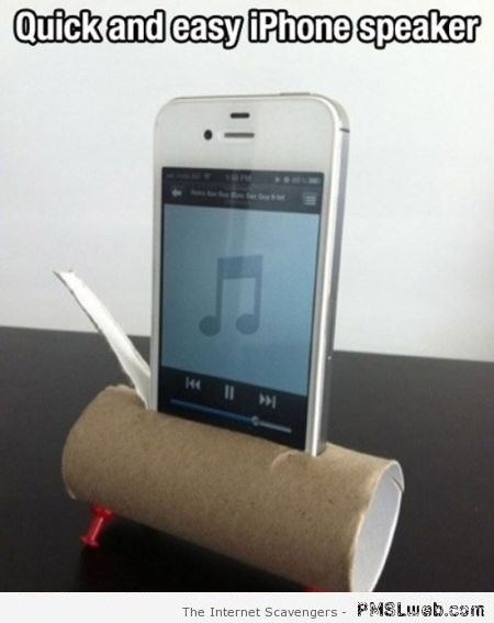 Funny iPhone speaker hack at PMSLweb.com