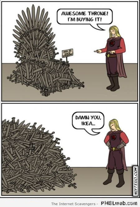Game of thrones Ikea humor at PMSLweb.com