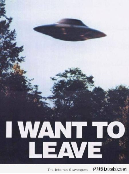 I want to leave funny UFO poster at PMSLweb.com