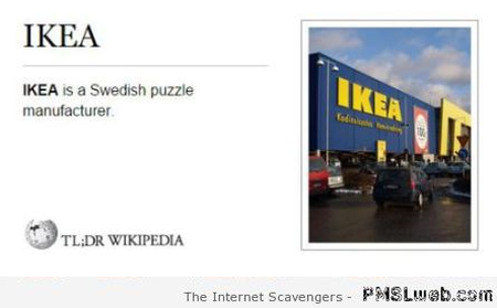 Funny Ikea definition at PMSLweb.com