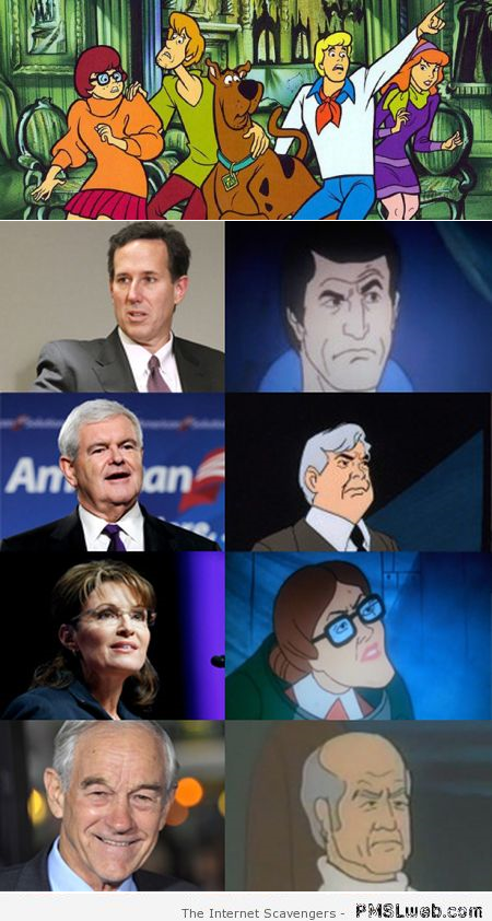 Politicians are Scooby doo villains humor at PMSLweb.com