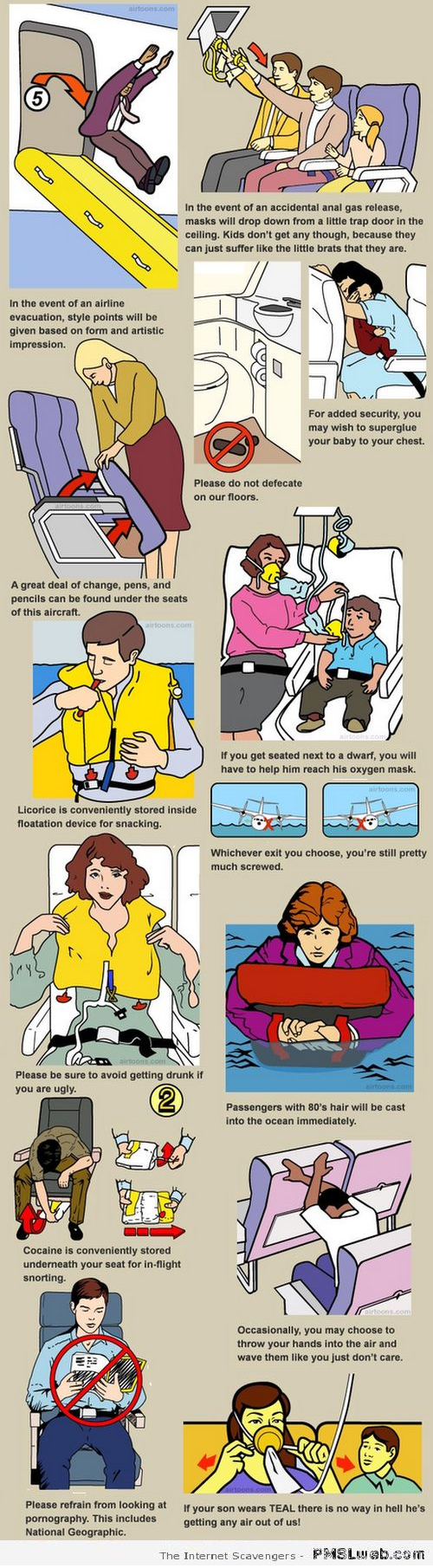Funny plane guidelines 1 – Weekend nonsense at PMSLweb.com