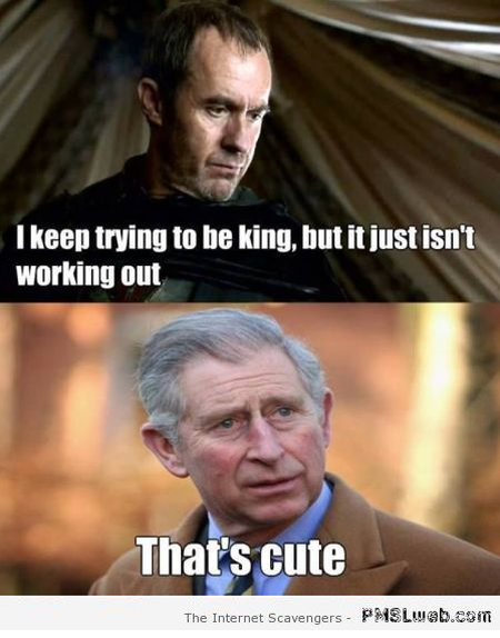 Funny Prince Charles game of thrones meme at PMSLweb.com