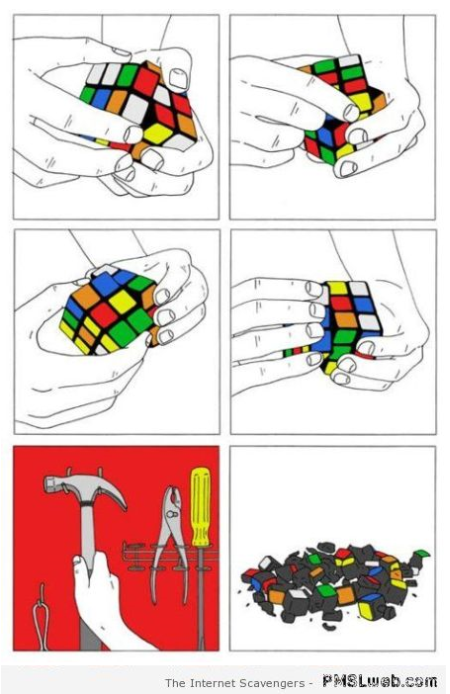 Funny rubik's cube solution at PMSLweb.com