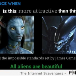 All aliens are beautiful humor at PMSLweb.com