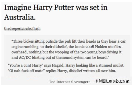 Funny if Harry Potter was set in Australia at PMSLweb.com