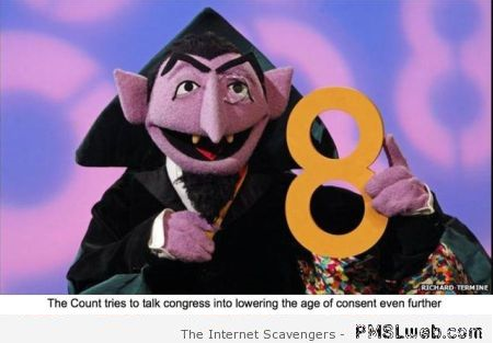 Sesame Street count and the age of legal consent funny at PMSLweb.com