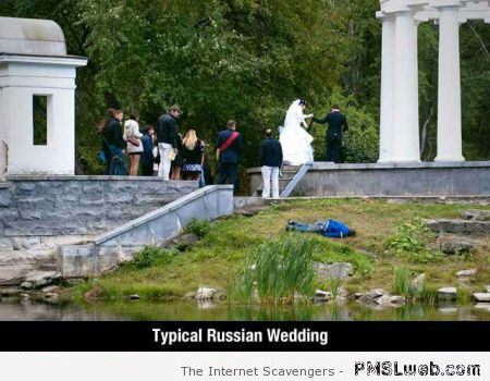 Funny typical Russian wedding at PMSLweb.com