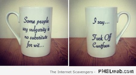 Some say vulgarity is no substitute to wit mug at PMSLweb.com