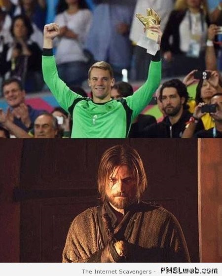 Manuel Neuer and Jaime Lannister meme – Game of Thrones funnies at PMSLweb.com