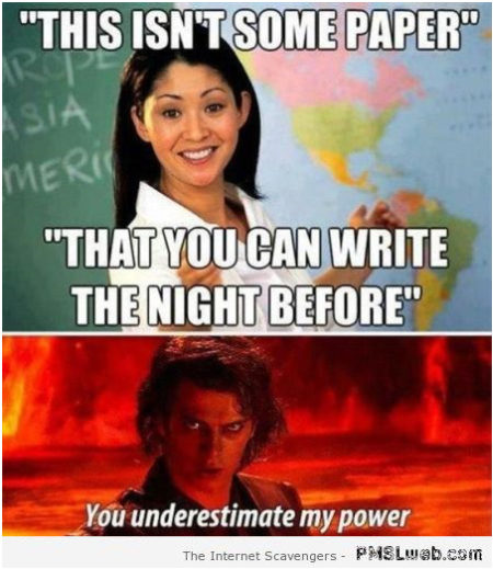 Funny assignment paper meme at PMSLweb.com