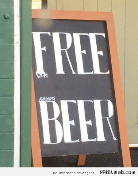 Free beer advertising win at PMSLweb.com