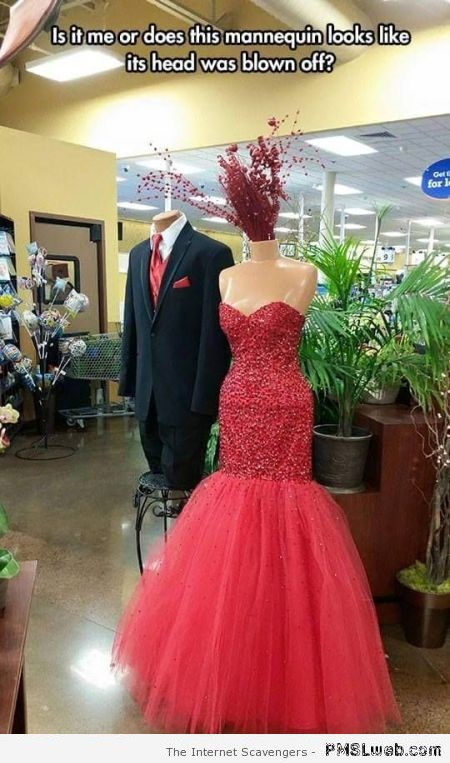 Funny mannequin fail at PMSLweb.com