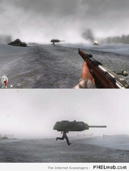 Funny video game tank fail at PMSLweb.com