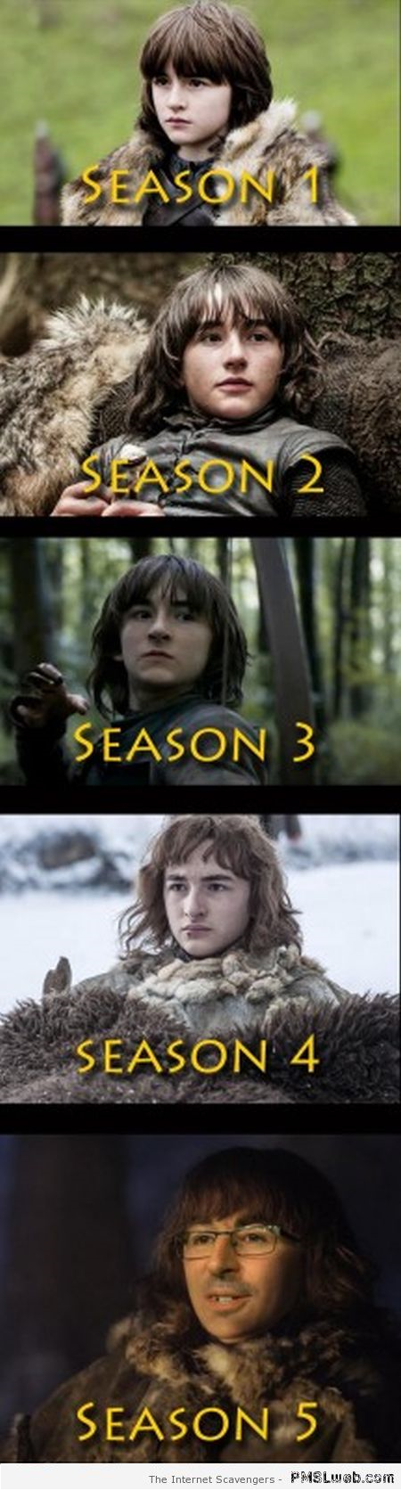 Funny evolution of Bran Stark at PMSLweb.com
