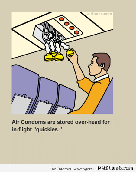 Funny fake airplane guidelines at PMSLweb.com