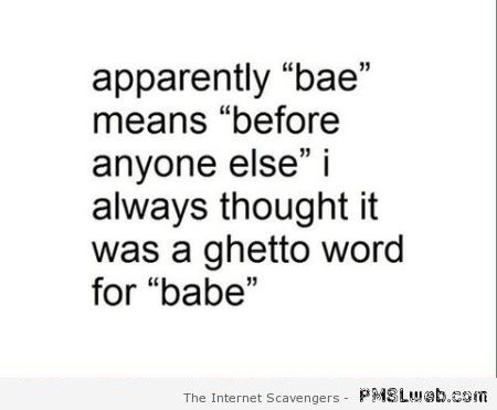 True meaning of bae funny quote at PMSLweb.com