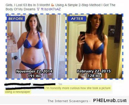 Funny weight loss comment at PMSLweb.com